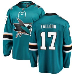 Men's San Jose Sharks Pat Falloon Fanatics Branded Breakaway Home Jersey - Teal